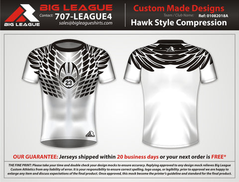 Hawk Style Compression - White - Flag Football