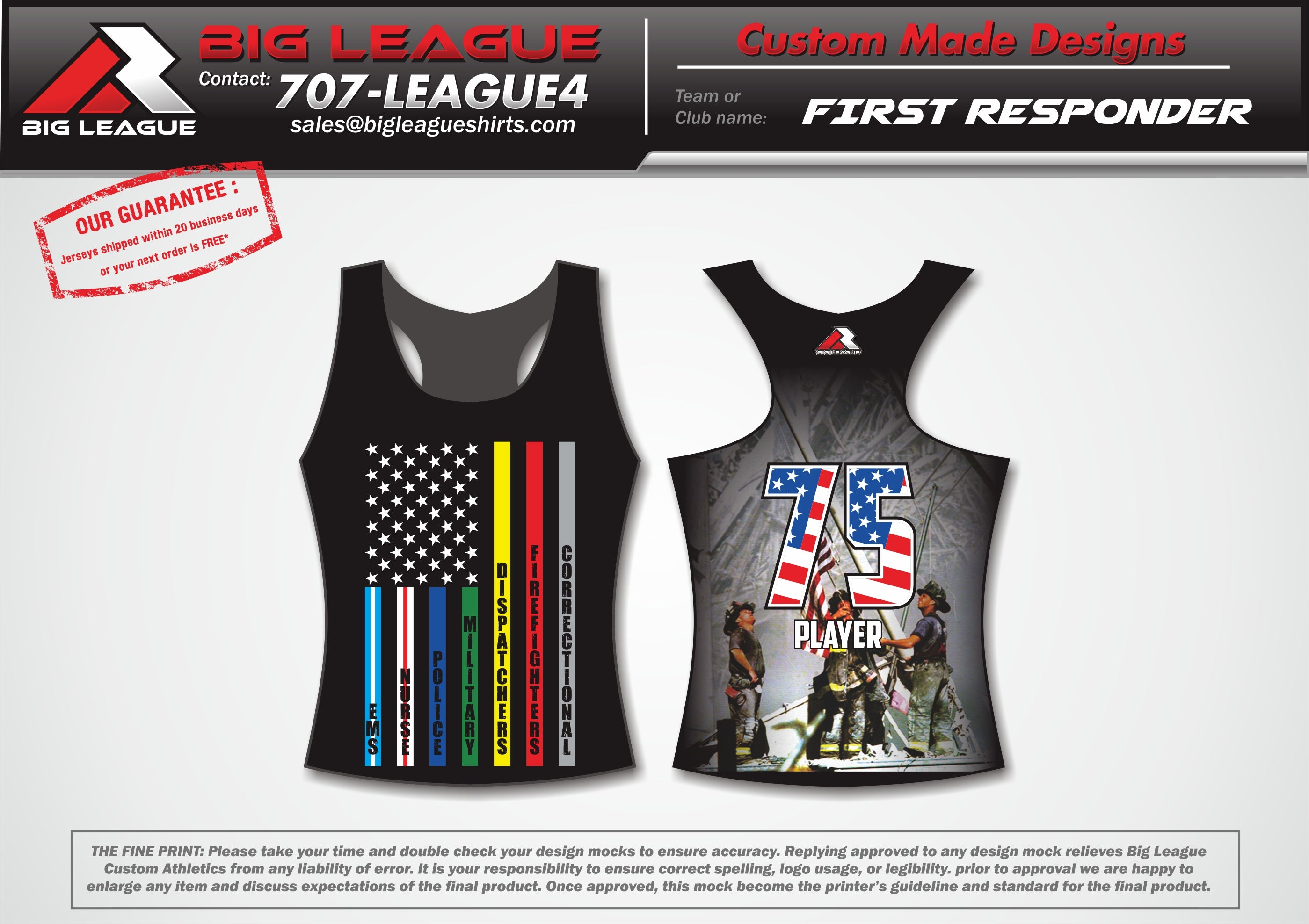 First Responder Racerback  - Softball