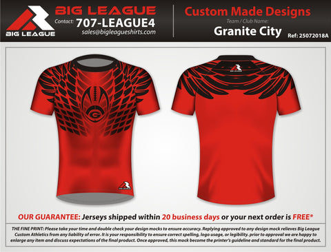 Hawk Style Compression - Red - Bulldogs - Flag Football