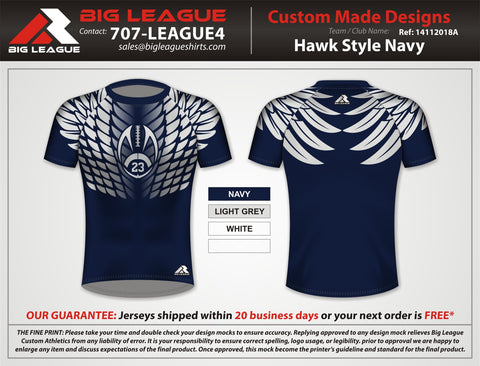 Hawk Style Compression - Navy - Flag Football
