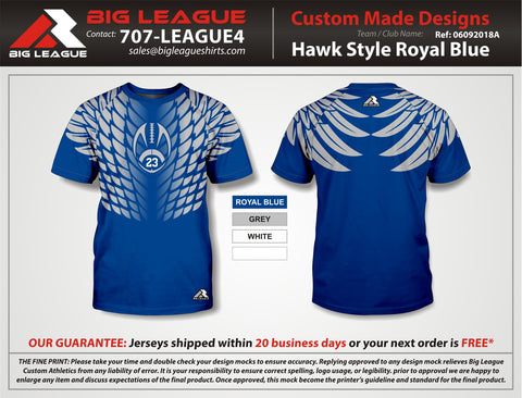 Hawk Style Compression - Royal Blue - Flag Football