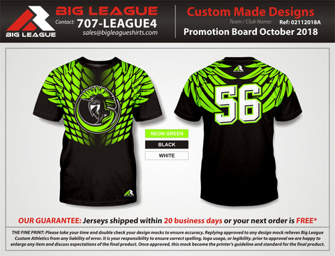 Hawk Style Compression - Trojans - Black & Green - Flag Football