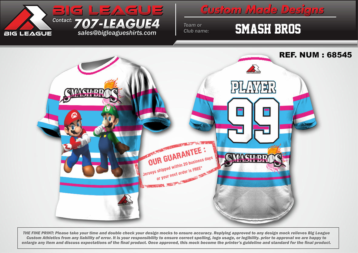 Smash Bros White/Pink - Buy In