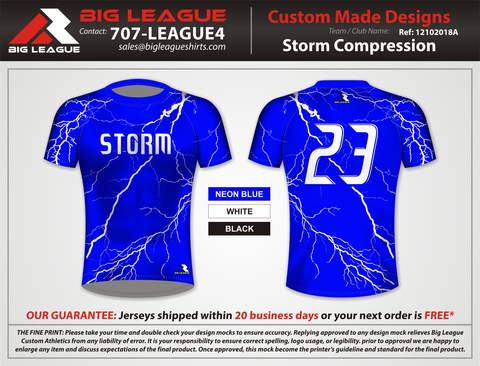 Storm Style Compression Shirt - Blue