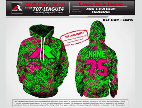 Big League Green/Pink Camo - Hoodie - Buy In