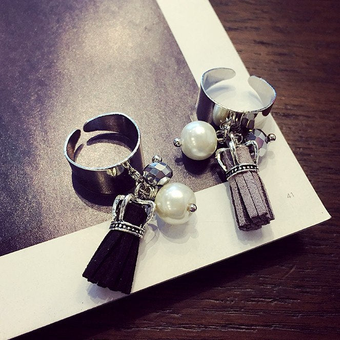 【In-Stock】Tassel & Crown Rings