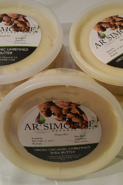 100% Organic Raw Unrefined Shea Butter (Certified Organic) 8 oz