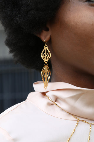 At the Top Long Dangle Earring