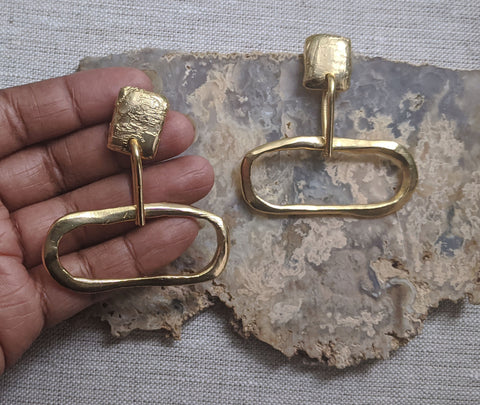 Gold to Me - Large Doorknocker Earrings