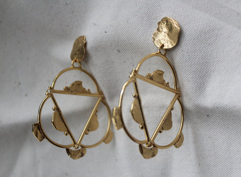 Hand of Trinity Dramatic Earrings