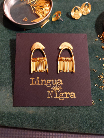 Sample Sale - Shower of Faith Earrings - Smaller Fringe