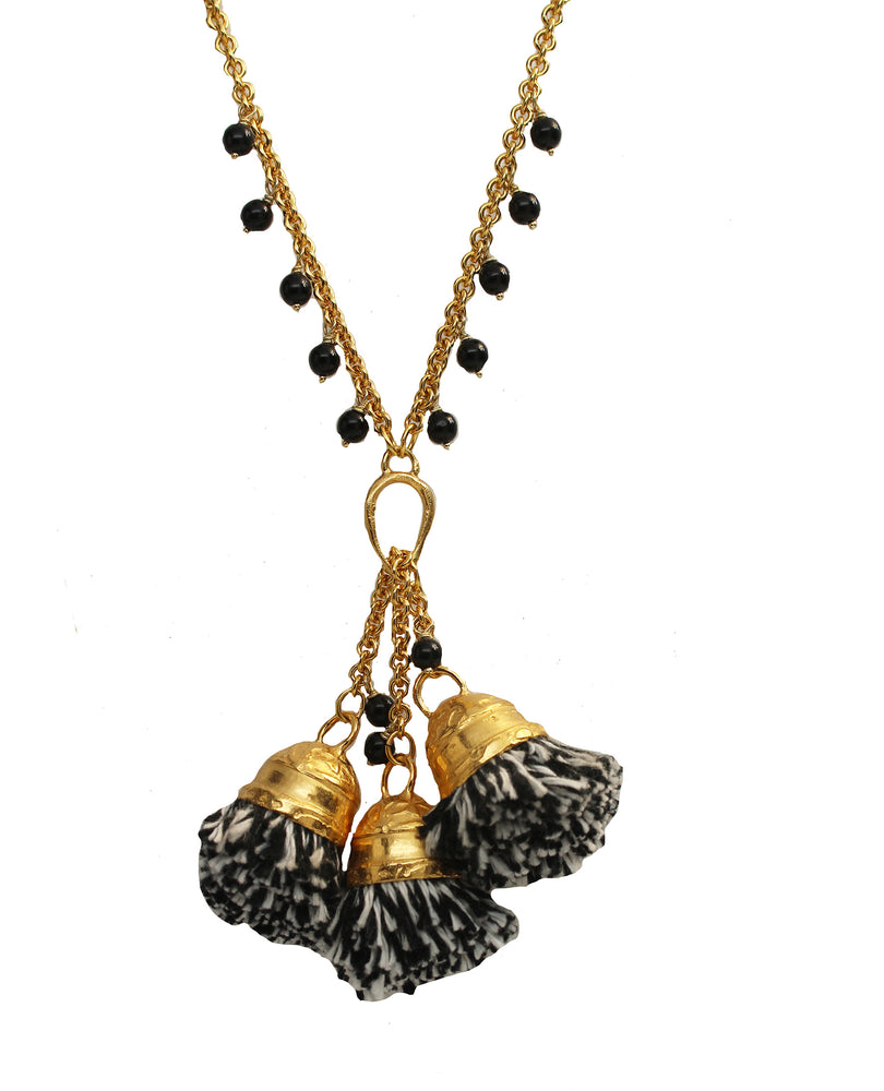 In the Spirit Pom Pom Necklace - Assorted Colors