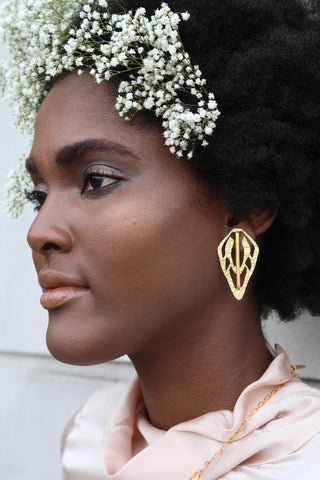 Alien Key Cutout Earrings