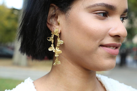 Ball and Chain Asymmetrical Dangle Earring