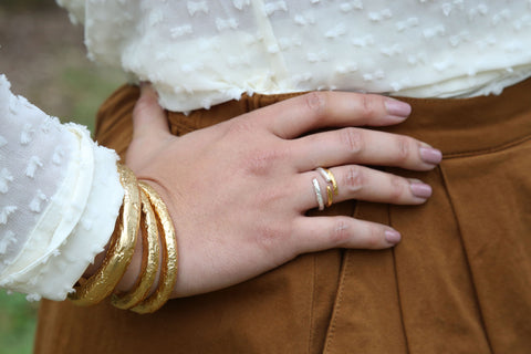 The Crossover Ring - Adjustable - Midi Ring