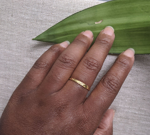 Flatten the Earth - Hand Etched - Stackable Ring - Mix and Match Sterling Silver and Gold Plate