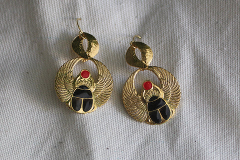 LN ReMix - Aurum Scarab Wing Earrings