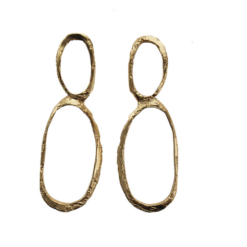 Return from Time Double Oval Earring