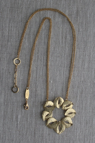 Organic Sculptured Gold Necklace