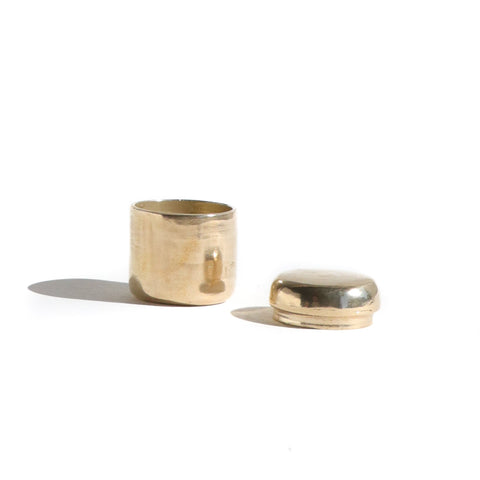 Lingua Nigra x URB Apothecary Scented Balm in a Handmade Brass Container
