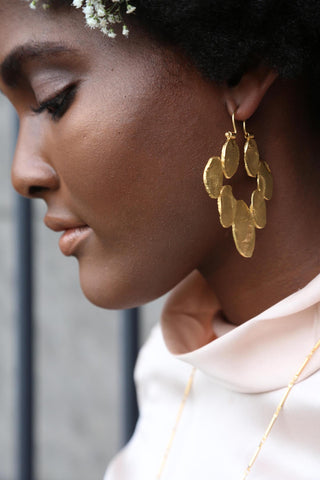 When Big Things Happen Oval Hoop Earring