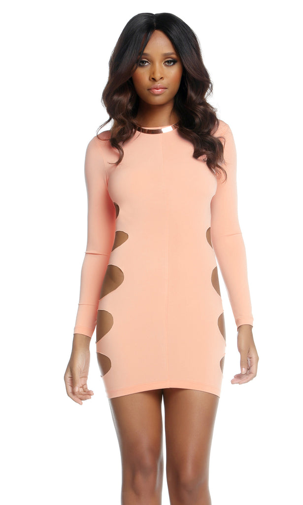 Paige Side Panel Circle Cutout Dress