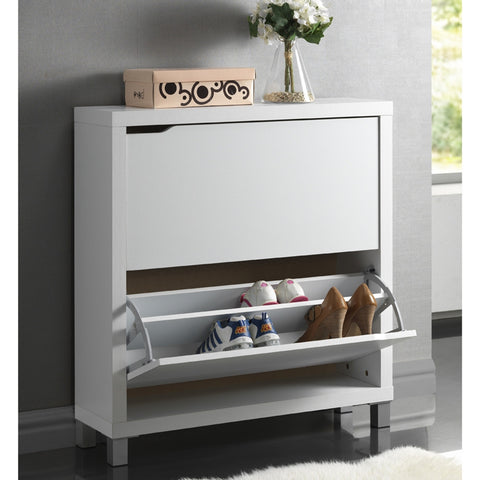SIMMS WHITE SHOE CABINET
