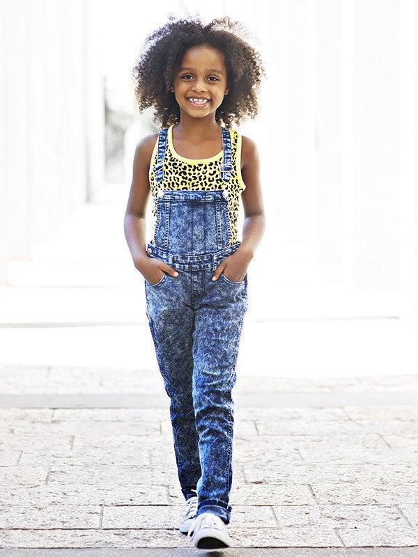 Girl's Blue Denim Overall