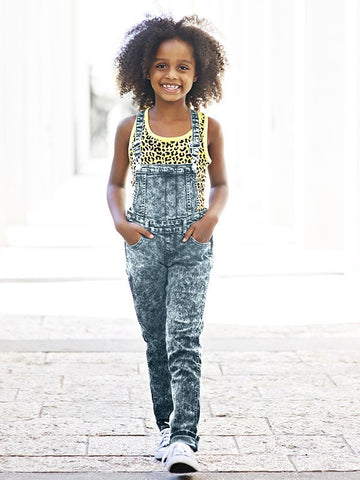 Girl's Light Denim Overall