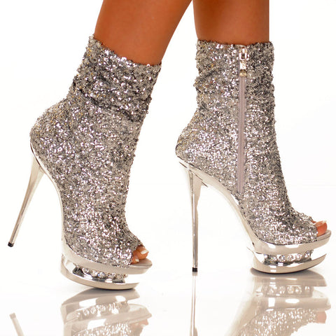 Diamond Sequin Bootie