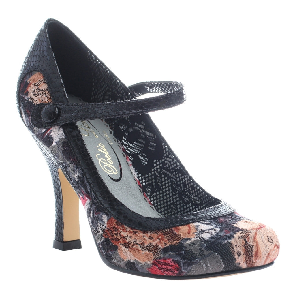 Feminine Retro Floral Pin-Up Heels