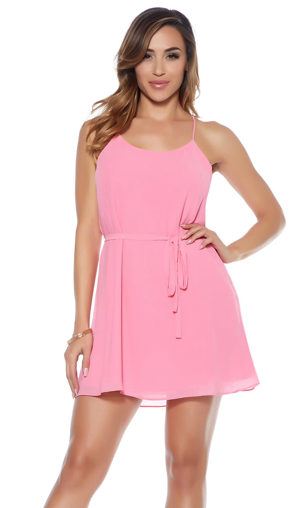 Jessica Flirty Tie Waist Dress