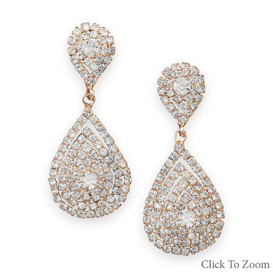 Elegant Gold Tear Drop Earrings