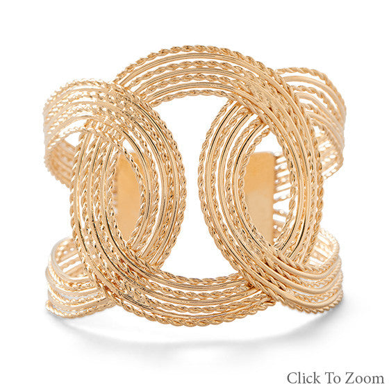 Linked Gold Cuff