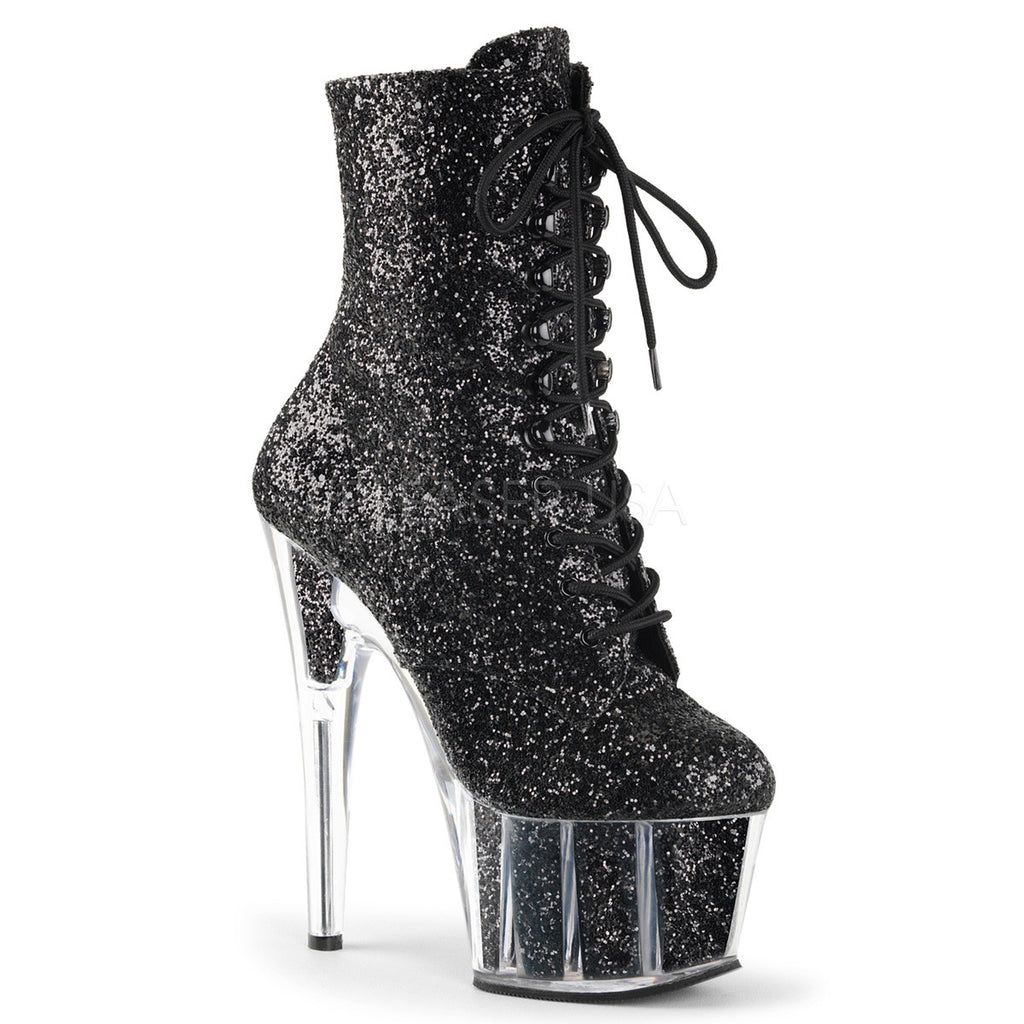 Sparkle Black Platform Boot