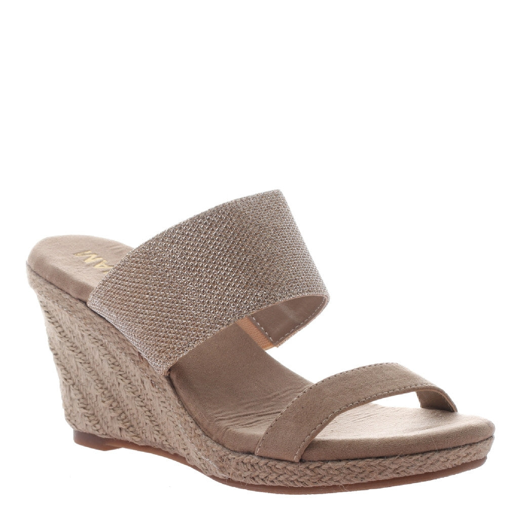 Sabrina Gold Wedge