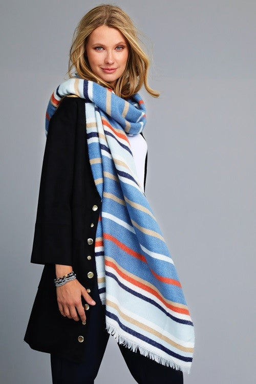 Ava Multi Striped Scarf