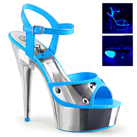 Chromatic Blue Platform Sandal