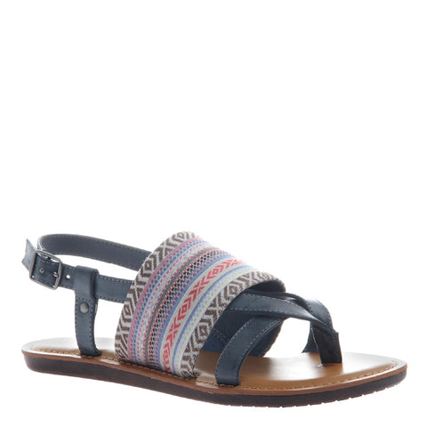 Ashley Blue Embroidered Sandal
