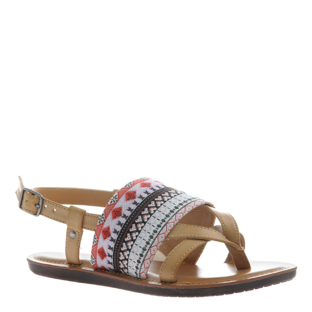 Ashley Camel Embroidered Sandal