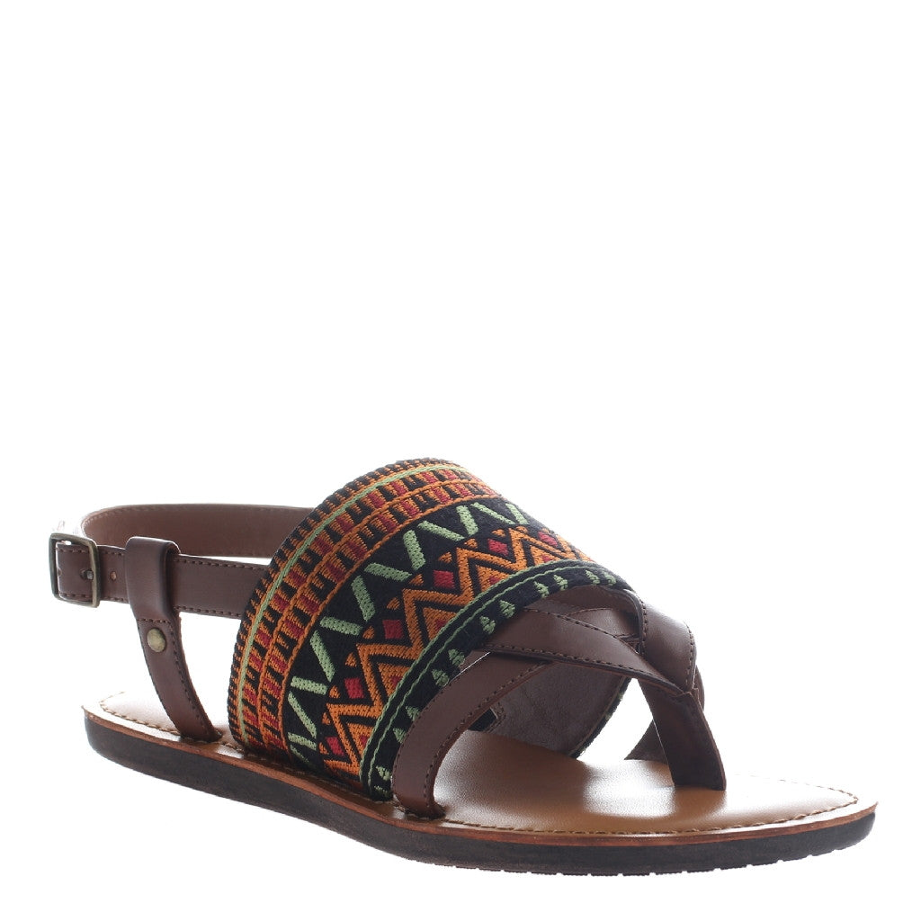 Ashley Whiskey Embroidered Sandal