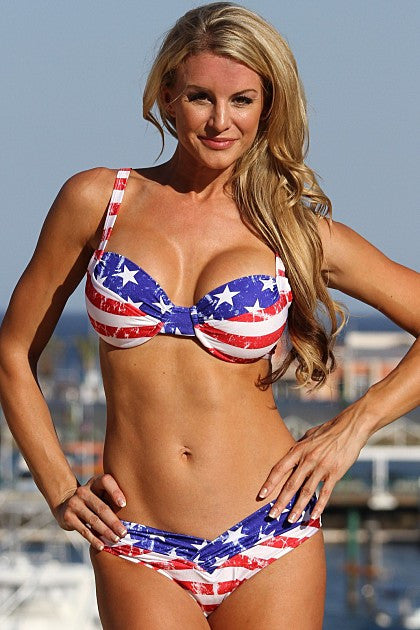 American Stars and Stripes Vintage Bikini