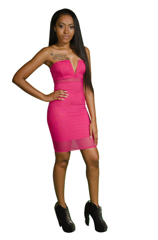 Adore Strapless Illusion Dress