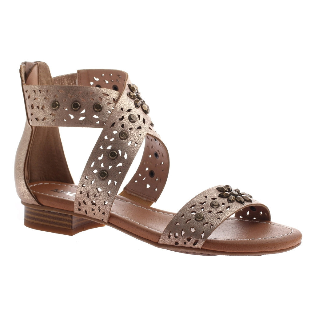 Tracy Gold Jeweled Sandal