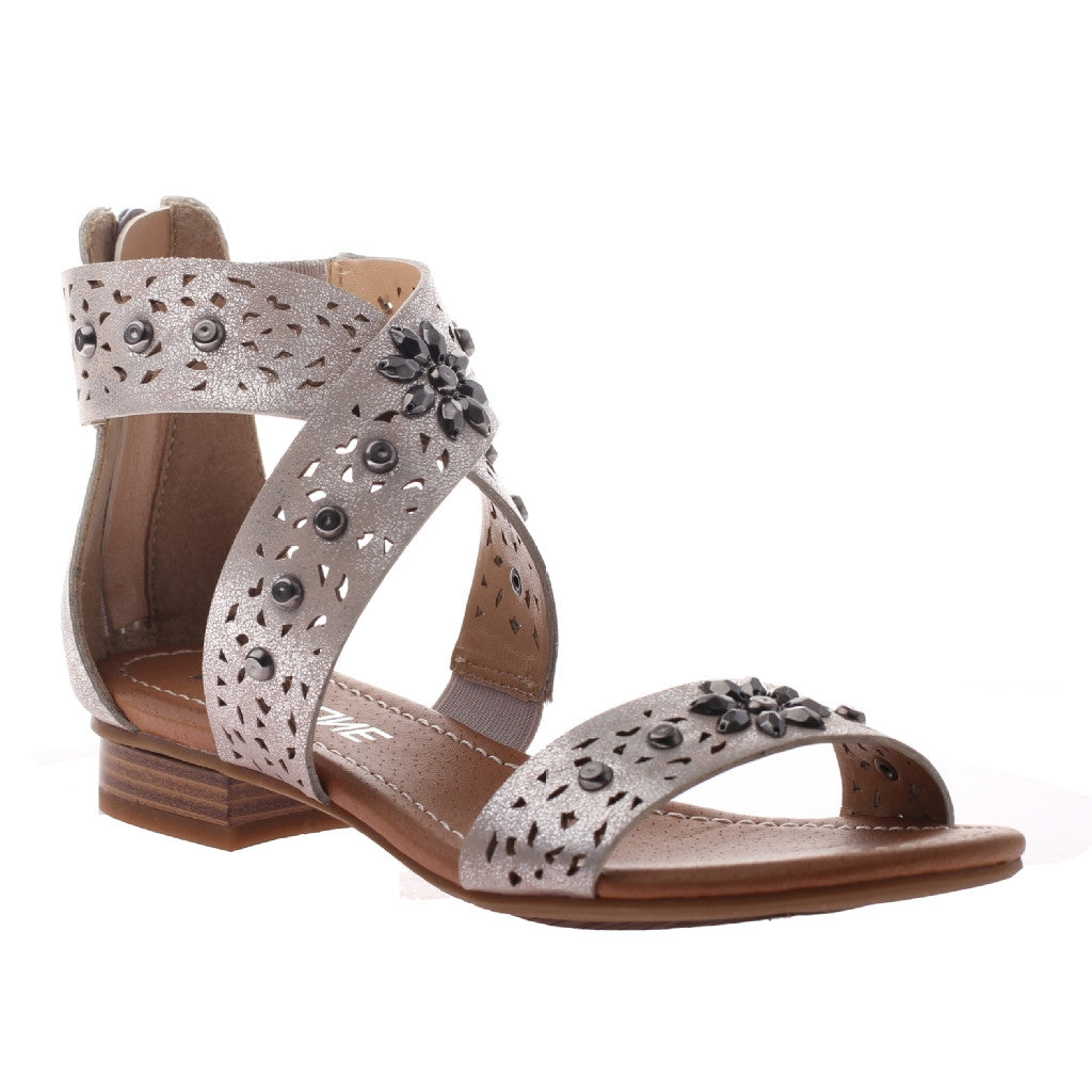 Tracy Silver Jeweled Sandal