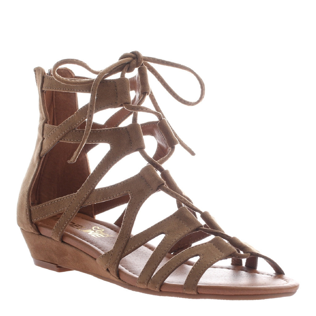 Tasha Taupe Lace Up Sandal