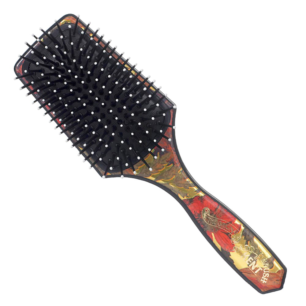 Small, 9 Row Cushion Paddle Hair Brush with Ball Tip Quills