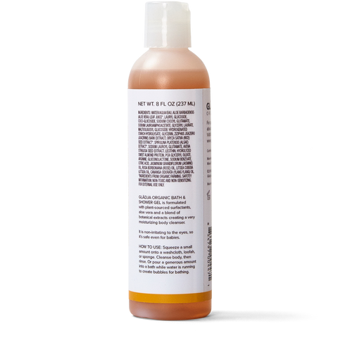 Organic Bath & Shower Gel - Jasmine, Rose, Litsea & Ylang Ylang