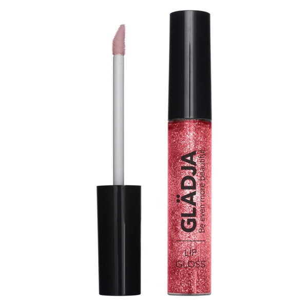 Clear with Raspberry Red Glitter Lip Gloss Glitter - 188