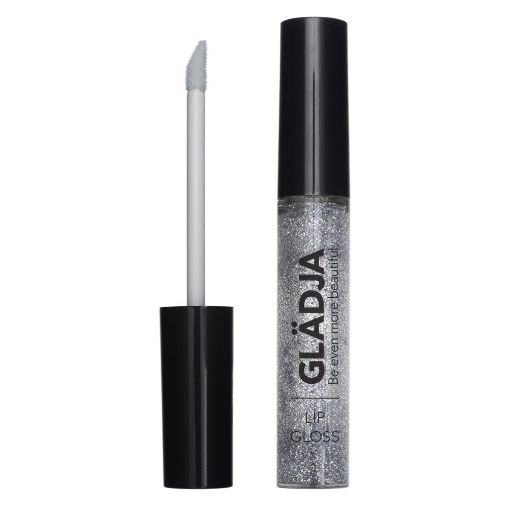 Clear with Bright Silver Lip Gloss Glitter - 190